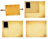 Old vintage paper with grunge frames for photos Royalty Free Stock Photography