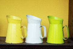 Set of old vintage pitcher. Royalty Free Stock Photo