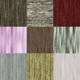 Set of old wood seamless generated textures Stock Image
