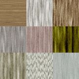 Set of old wood seamless generated textures Royalty Free Stock Image
