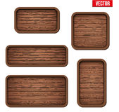 Set of old wooden boards. Stock Image