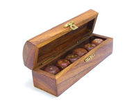 Set of  old wooden dice Stock Image