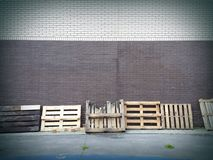 Old wooden pallets Royalty Free Stock Image
