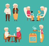 Set with older people. Royalty Free Stock Photography