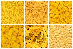 set olikt för pasta Royaltyfri Fotografi