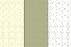 Set of olive hearts as seamless pattern. Romantic backgrounds. Vector illustration vector illustration