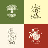 Set of olive label and logo design Stock Photography