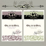 Set of olive oil labels Royalty Free Stock Photos