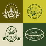 Set of olive oil labels, badges and logos for. Design. Vector illustration stock illustration