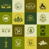 Set of olive oil labels, badges and logos for Stock Photography