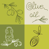 Set of olive oil logos Royalty Free Stock Photo