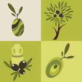 Set of olive oil logos Royalty Free Stock Photography
