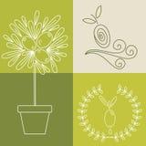 Set of olive oil logos Royalty Free Stock Photo