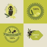 Set of olive oil logos Royalty Free Stock Photos