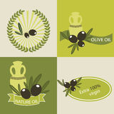 Set of olive oil logos Royalty Free Stock Image