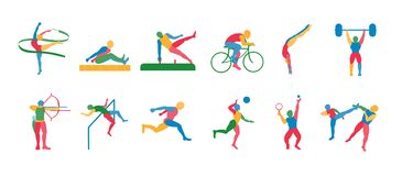 Set Of Olympic Sports Icons Isolated