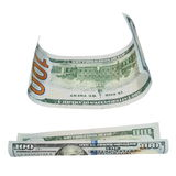 Set one hundred dollar bill isolated on white Royalty Free Stock Photo