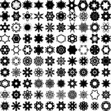Set of one hundred hand draw elements for design. Royalty Free Stock Photos