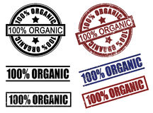 Set of 100 one hundred % percent organic rubber stamps Stock Images