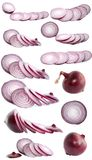 Set, onions,  isolated. Royalty Free Stock Photo