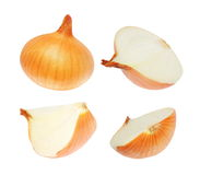 Set onions isolated on white, with clipping path Stock Images