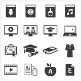 Set of online education icon Stock Photos