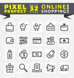 Set of Online Shopping Icons Royalty Free Stock Photos