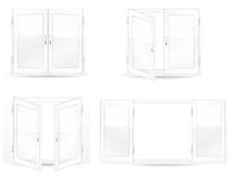 Set of open and close windows Stock Photo
