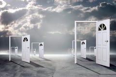 Set of open doors Stock Image
