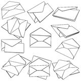 Set of open Envelopes Royalty Free Stock Photo