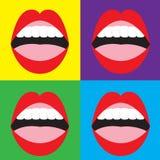 Set of Open Mouth Stock Photos