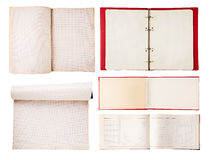 Set of open notebooks Stock Images