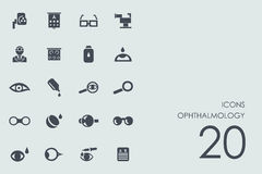 Set of ophthalmology icons Stock Images