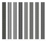 Set opony na białym tle Fotografia Stock