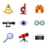 Set of optic icons Royalty Free Stock Photography