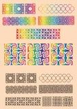 Set optical illusions of geometrical objects Stock Image