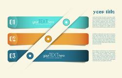 Set of 3 option banners Stock Image