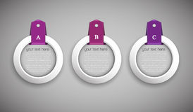 Set of 3 option buttons Stock Image