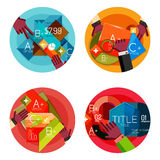 Set of option presentation labels, flat design web Stock Photo