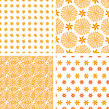 Set orange abstract seamless pattern Stock Image