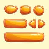 Set of orange cartoon buttons Royalty Free Stock Photo