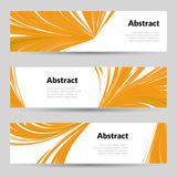 Set of Orange Curved Lines Backgrounds Banners and place for Text Vector illustration Royalty Free Stock Photos