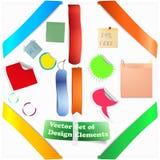 Set Of Orange Elements For New Items Stock Photo