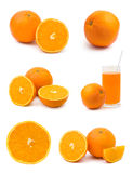 Set of orange fruits Royalty Free Stock Image