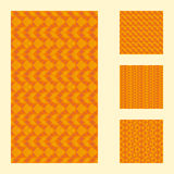 Set of orange geometric hipster background Royalty Free Stock Photos