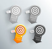 Set of orange and grey labels for wide variety of use. Royalty Free Stock Photo