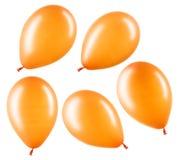 Set of orange helium balloons, element of decorations