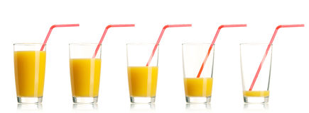 Set of orange juice Stock Photo