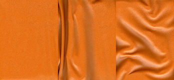 Set of orange leather textures. For background Royalty Free Stock Photo