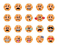 Set of orange lollipop icons Stock Photography